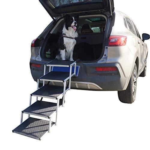 YEP HHO Escalera plegable para mascotas, 5 niveles, plegable, para coche, camión, todoterreno