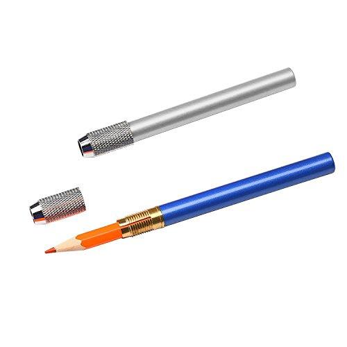 Shappy Aluminum Pencil Lengthener Extender Holder, Assorted Colors, 6 Pieces Photo #3