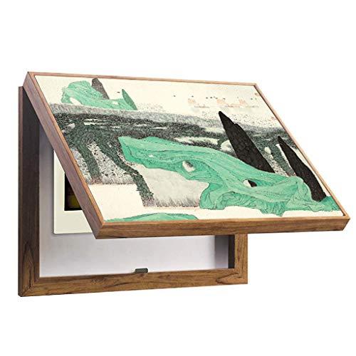 LITING Sala de Estar Comedor Tridimensional Cuadro de medidor eléctrico Cuadro de distribución de Pintura Decorativa Puede voltearse for Cubrir Moderno (Color : Wood, Size : (60 * 50cm 50 * 40cm))