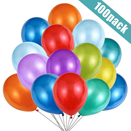 O-Kinee Luftballons Bunt,100 Bunte Ballons Latex Helium,Luftballons 30cm für Kinder Geburtstag,Hochzeit Stäbe Party Gartenparty Sommerfest Halloween Weihnachten Geburtstags Party Hochzeits