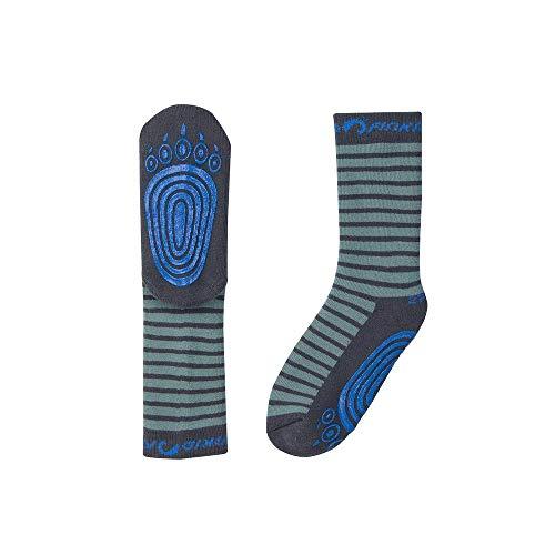 Finkid Tapsut Gestreift-Grau-Grün, Socken, Größe 19-22 - Farbe Trellis - Graphit