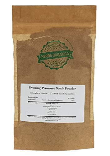 Enagra Comune Semi Polvere/Oenothera Biennis L/Evening Primrose Seeds Powder # Herba Organica # Rapunzia, Enotera, Prosciutto di Sant'Antonio, Blattaria (100g)