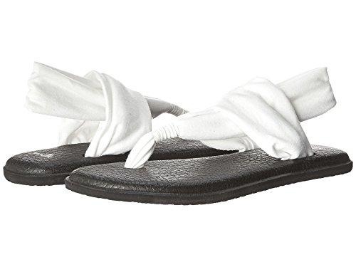 Sanuk Yoga Sling 2 - Chanclas para mujer, Blanco (Blanco/Blanco), 36 EU