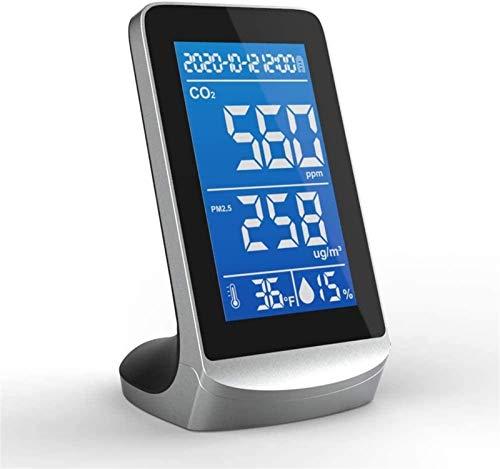 WNN-URG CO2 Messgerät Luftqualitätsmessgerät Tragbare Luftqualität REGANIZER Digitalanzeige Bildschirm CO2-Monitor PM2.5 Warme Luftfeuchtigkeit Infrarot-Tischplatte Innenanzeige Hochgenauigkeit Hohe G