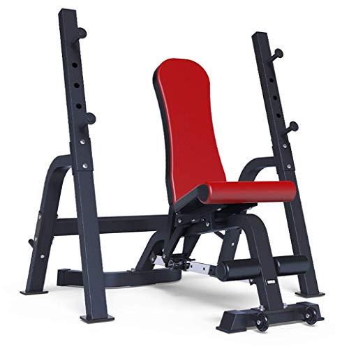 HAOYF Multifunktions-Hantelbank verstellbar Langhantelablage Bankdrücken Rack Stabiles Kniebeugen Rack Home Fitness Stuhl Fitnessgerät