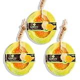 LABOTE Handgemachte thailändische Bio Naturseife Honig Melone mit typischem Duft, 3 Stück