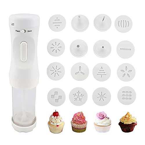 Electric Cookie Press Gun Set, Cookie Maker Kit Electric Cookie...