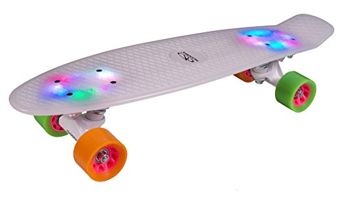 Hudora 12134 Skateboard Retro Rainglow