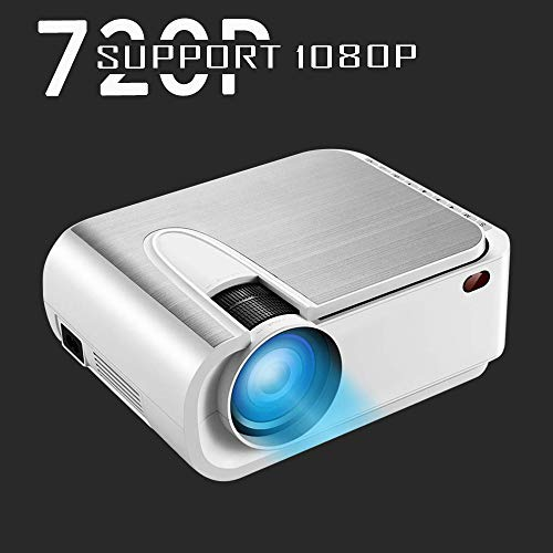 XINDA Projector, XINDA Mini Projector with 4600 Lumen,220' Display Video Projector.Home Theater Projector 1080P Supported,Compatible with Fire TV Stick,Smartphone,PS4,HDMI,TF,VGA,AV USB