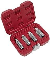 Sealey ak6556Spark Plug Socket Set 4piezas llave de carraca de 3/8