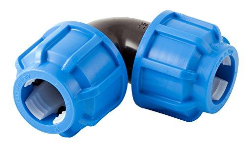 Boutté PEC25 Coude Plastique Egal polyethylene Tuyau ø25, Bleu