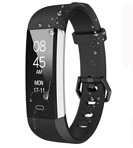 Fitpolo Reloj Inteligente, Pulsera de Actividad Impermeable,Reloj Deportivo con Podometro/Contador de calorías/Monitor de sueño/Notificación de Llamadas para Niños, Mujeres y Hombres …