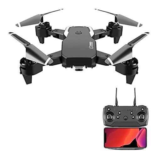 Drone con doppia fotocamera per adulti, Drone WiFi FPV con fotocamera 4K FHD, Drone pieghevole Quadcopte con mantenimento dell'altitudine, modalità senza testa, decollo/atterraggio con una chiave