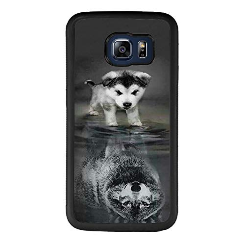 Phone Case for Samsung Galaxy S6 Wolf ChyFS Phone Case TPU Black Protective Case for Samsung Galaxy S6