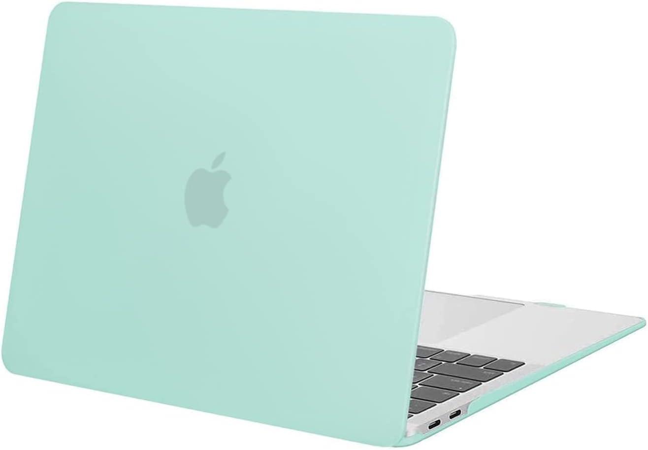 MOSISO Funda Dura Compatible con MacBook Air 13 Pulgadas 2020-2018 A2337 M1 A2179 A1932 con Pantalla Retina & Touch ID,Ultra Delgado Carcasa Rígida Protector de Plástico Cubierta,Menta Verde