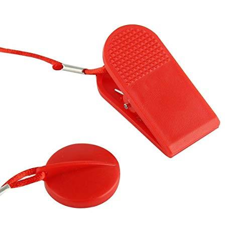 SH-RuiDu Llave de seguridad para cinta de correr | Llave de seguridad de parada magnética | para todas las cintas de correr NordicTrack, Proform, Suela, Weslo, Weider, épica, Freemotion y Healthrider