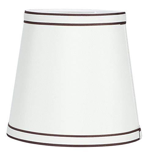 Beige handgemaakte stof Taps toelopende lampafdekking Hangende lampenkap voor thuisgebruik in het hotel
