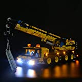 Led Lighting Compatible with Lego 42108 Technic Mobile Crane,LED Light kit for Lego 42108 Building Blocks Model (only Light Included)