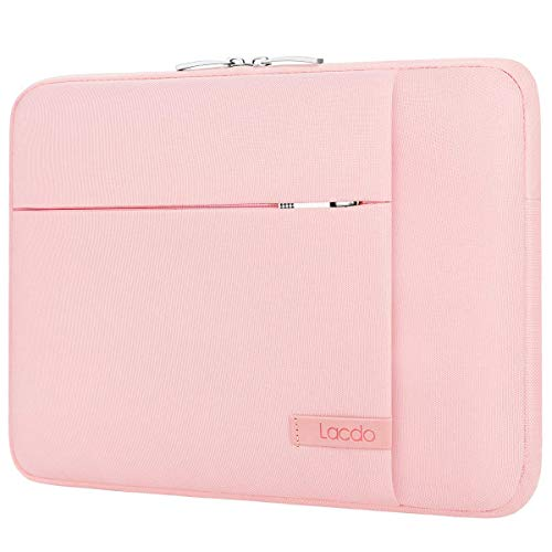 Lacdo 11 Inch Chromebook Case Laptop Sleeve for 11.6 inch Samsung Dell Acer ASUS Chromebook C223NA/E210MA, 11.6' MacBook Air, Lenovo IdeaPad Slim 1, HP Stream 11, Surface Pro/X/7/6 Notebook Bag, Pink