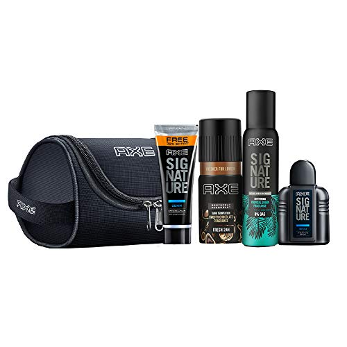 Axe Men'S Grooming Kit - Body Perfume, Deodorant Bodyspray, After Shave Lotion,...
