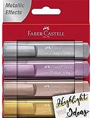 Faber-Castell 154640 - Textmarker 46 metalik, kutu içinde 4 adet