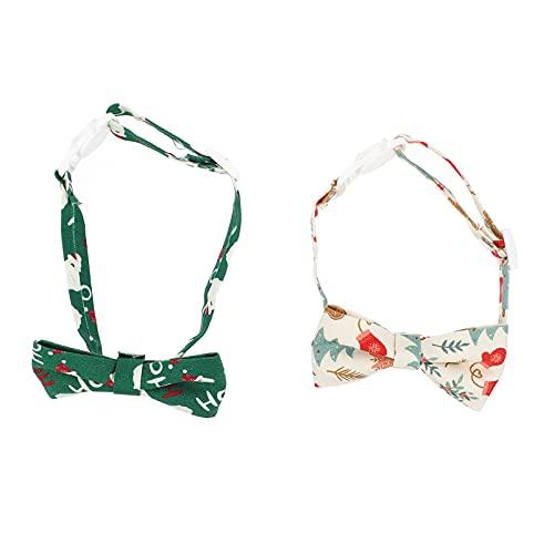 Toyvian 2 Piezas de Collar de Perro de Navidad con Lazo de Cuello de Gato de Navidad Accesorios de Disfraz de Navidad para Mascotas