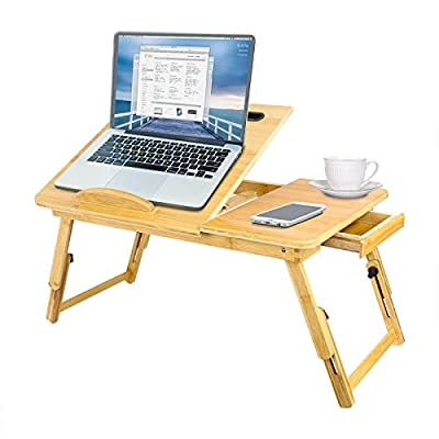 TAEERY Laptop Bed Tray Table,Multi Tasking Bamb...