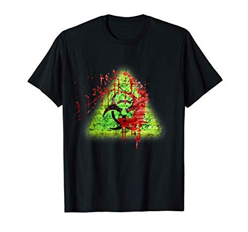 Salpicadura de Zombie infectado de ladrillo vintage tóxico Camiseta