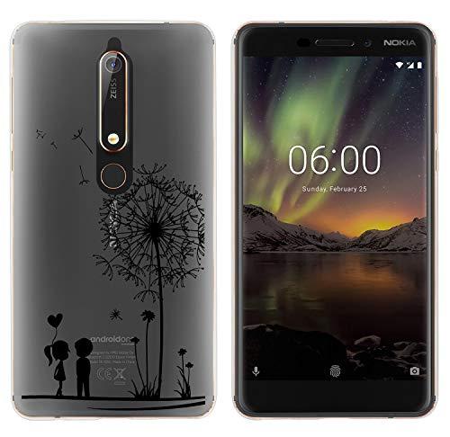 Yayago - Cover protettiva in silicone per Nokia 6.1, motivo decorativo, colore: Trasparente
