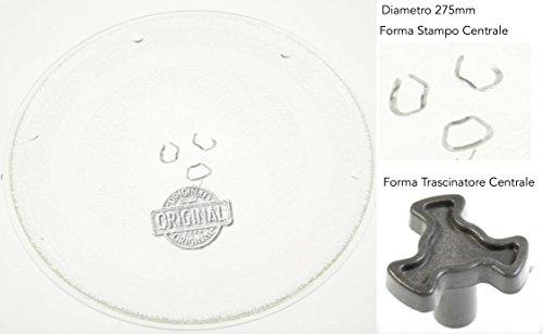 Whirlpool MWA269SL - Piatto Rotante in Vetro Originale per Forno a Microonde (Diametro 275mm)