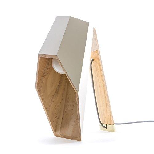 SELETTI 'Lampe de Table en Bois woodspot cm.22 x 23 H.44 – Blanc