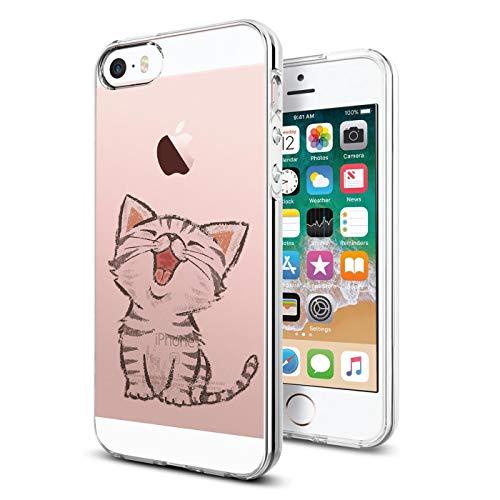 Verco Funda para iPhone SE, Delgada Case para Apple iPhone 5/5s Carcasa de Silicona Funda, Anti- Arañazos Transparente