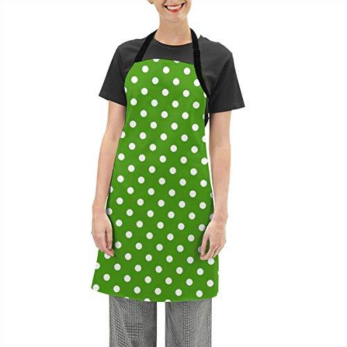 Darlene Ackerman(n) Weißer Ursprung auf grünem Hintergrund Verstellbare Schürze Küche Kochen Soft Chef Lätzchen Schürze für Frauen Basteln BBQ Zeichnung im Freien