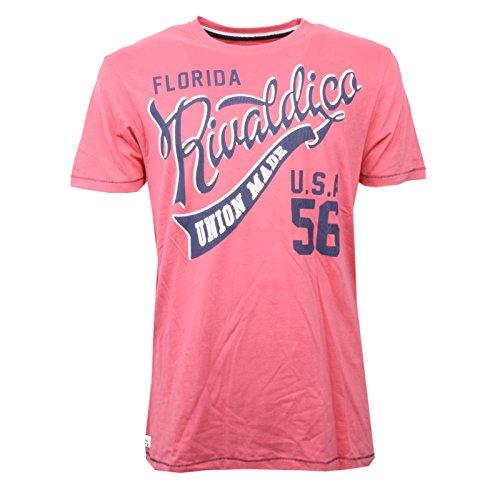 Rivaldi C1374 Maglia Uomo Sergent MC Men rosa Corallo/Blu Vintage t-Shirt Men [XXL]