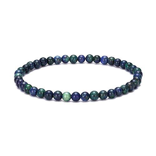 CEXTT 4mm Pequeñas Cuentas Pulsera Hombres Y Mujeres Natural Tiger Eye Lapis Lazuli Jewelry Pulsera
