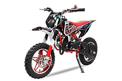 "Dirtbike 49cc 10"" Crossbike Pocket Minicross Motorcross Bullbike (Rot)"