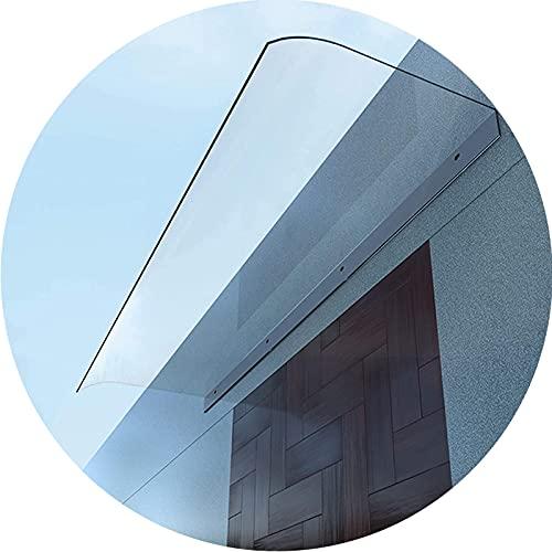 GDMING Klar Regenüberdachung Markise Für Tür Und Fenster, 3,5 Mm Eindicken UV Regen Schnee Schutz Polycarbonat Terrasse Veranda Skalierbar Schattenschutz Ohne Halterung,...
