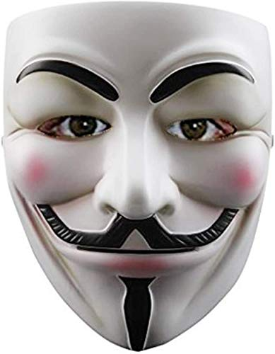 QUNPON Erwachsene/Kinder V for Vendetta Guy Fawkes Face Mask Fancy Halloween Cosplay