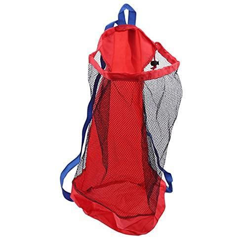 MEILUAIMU Bolsa Plegable portátil con cordón de Malla para niños, cestas de Juguete de Playa, Bolsa de Almacenamiento, Bolsas Impermeables para natación al Aire Libre para niños