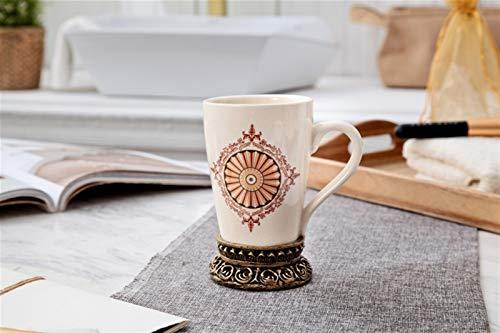 Juego de taza para cepillo de dientes de cerámica Nordic Creative para parejas, para baño (color: oro babilónico, tamaño: 101-200 ml)