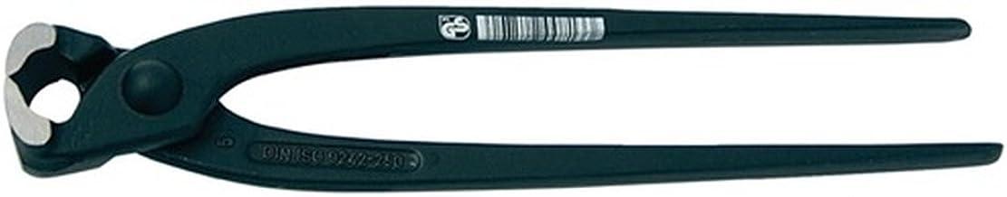 Promat korttang DIN ISO 9242 totale L. 300 mm kop gepolijst handgrepen zwart gelakt