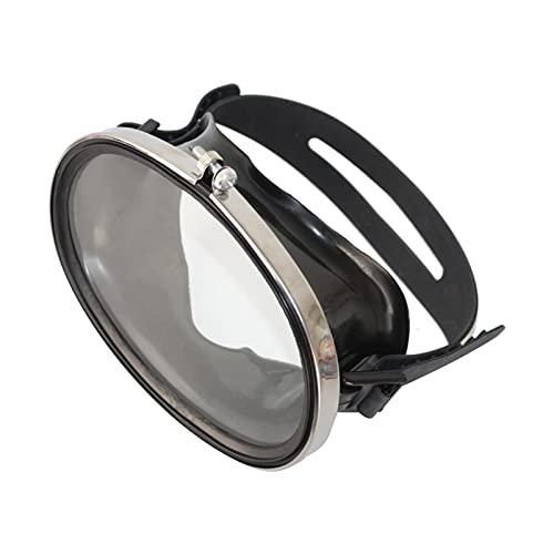 T TOOYFUL Máscara de Buceo, Sin Nebulizar Buceadores de Buceo de Buceo, Gran Sello de Buceo Gratis. Máscaras de Vidrio Templado Gafas - Negro