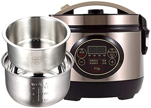 Knoijijuo Bei Reiskocher Programmierbare Intelligenter Dampf 3L Low Sugar on Digital-Elimination Multicooker Mit Pot Nonstick Innen Abnehmbare Abdeckung Timer