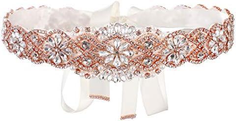 Bridal Belt for Women Dress Wedding Dress Belt for Bride Gold Crystal Rhinestone Wedding Belt product image