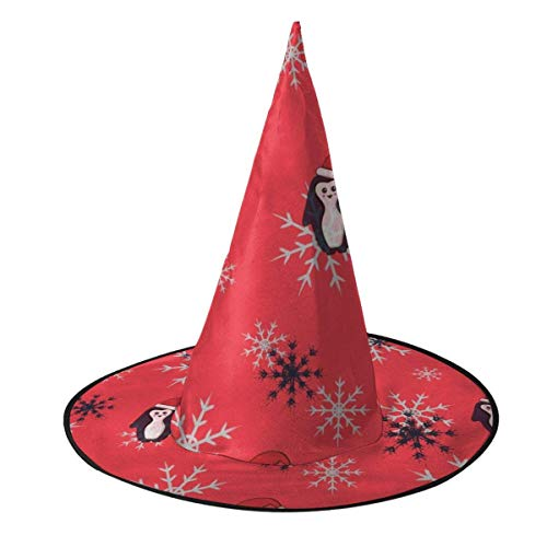 TABUE Halloween Kostüm Hexenhut Schneeflocken und Pinguin Santa Wizard Caps mit Lichtern Kostümzubehör für Cosplay Halloween Party