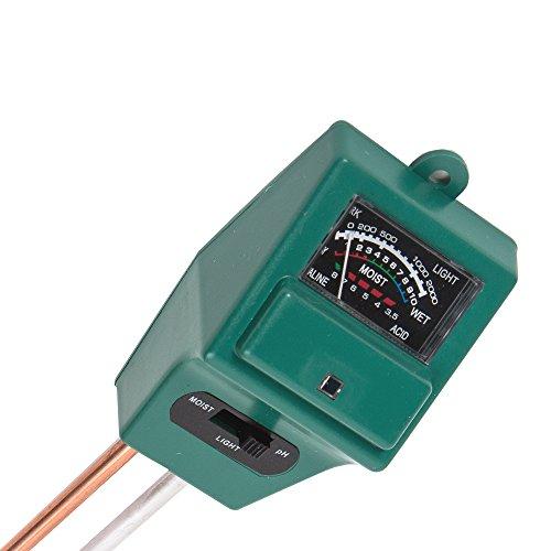 土壌酸度計1台3役/照度計水分量計 ペーハー PH計