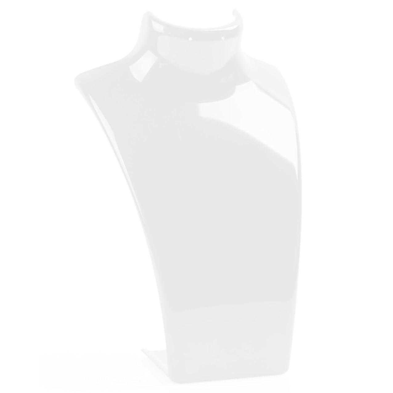ベジタリアンチョークレジ[SENYON] トルソー スタンド ネックレス イヤリング ペンダント ディスプレイ (白)