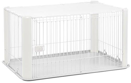 Iris Ohyama, parque para el perro / externa jaula / recinto / perrera - Pet Circle - CLS-1130, epoxy, blanco, 9,2 kg 78,8 x 113 x 60 cm