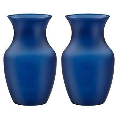 8  Glass Rose Vase (Case of 2) #999 Nordic Blue Matte