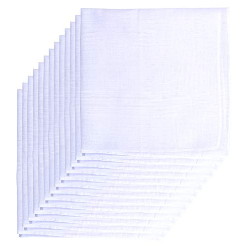 Van Heusen 13 Pack Cotton Handkerchiefs Solid White